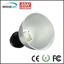 Bisu 130w led high bay light fixture with Bridgelux led MeanWell driver 3 years warranty for light weight steel garage