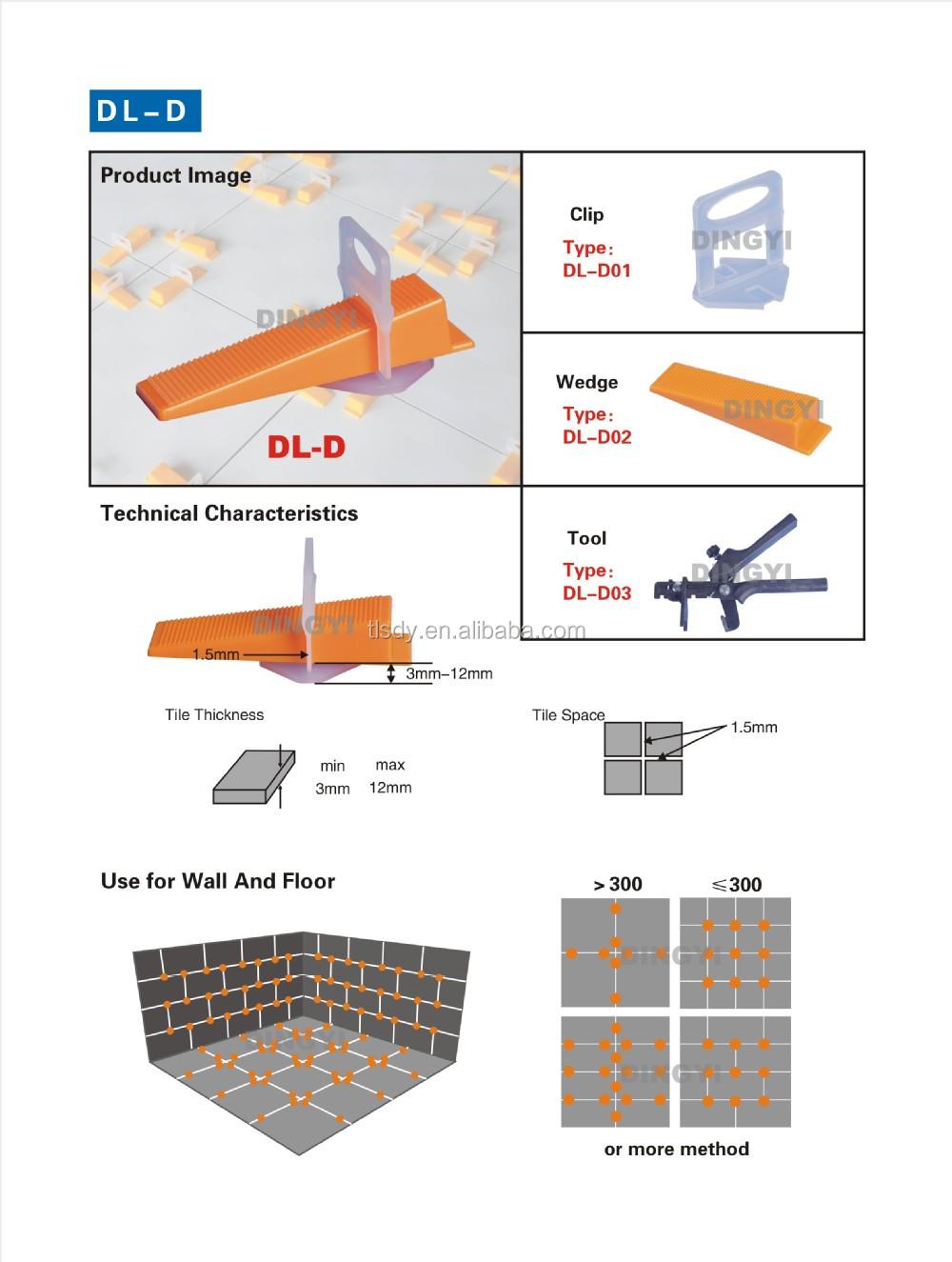 Floor Wall Tile Leveling System Tile Leveling Clip For Tile - Buy ...