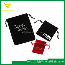 High Quality Tag Printed Velvet Bag for Packing Cell Phone