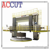 CNC Turret Vertical Lathe with Turret CNC Vertical Turret Lathe for sale with double column ACCUT VTL-40CNC