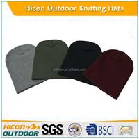 Colorful knitted winter warmer custom pom beanie handmade hat
