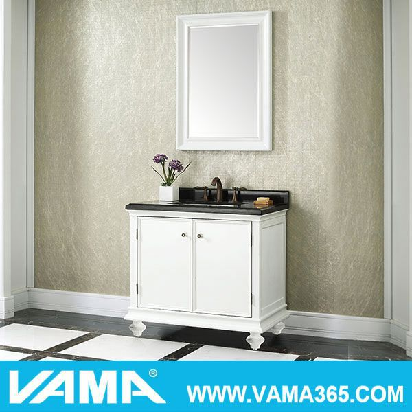 New American Style Modern Bathroom Vanity Set High End Bathroom Furniture Ceramic Wholesale