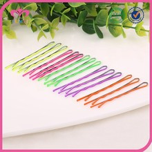 Classical waved pastel color metal bobby pin