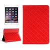 Superior Quality Grid Texture Leather Wallet Case for iPad Mini 4 with Card Slots