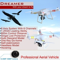 Wholesale Dron Gps Camera 2.4G Six Axis RC Quadcopter VS DJI Phantom Professional Aerial Drone By Salange
