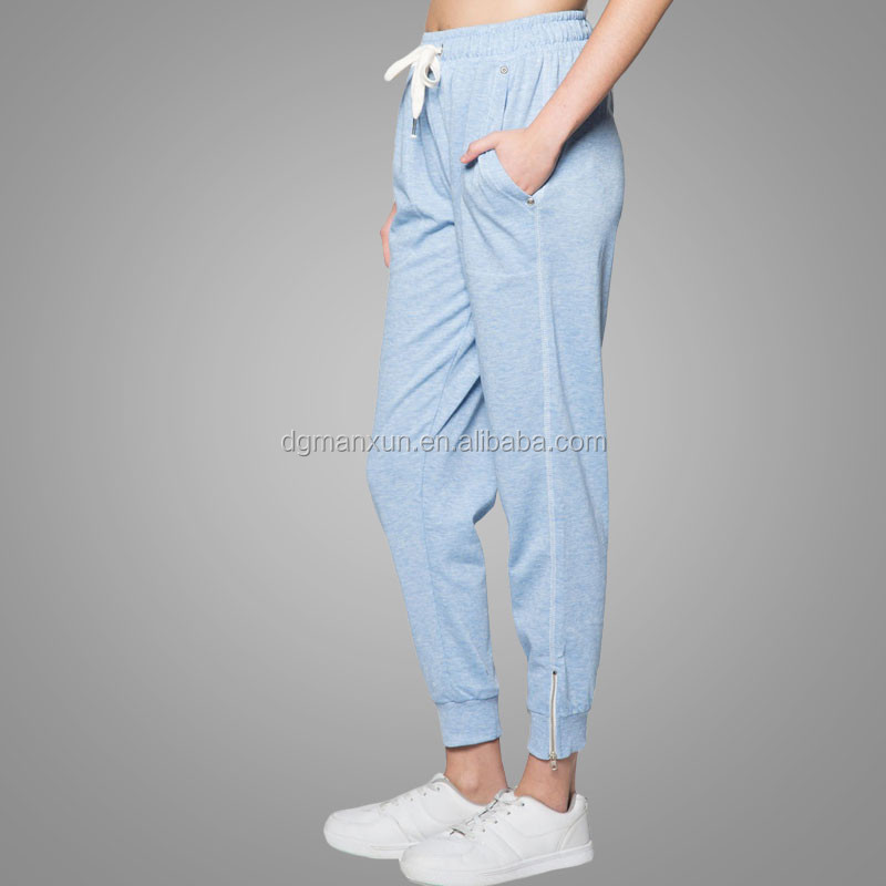 Chinese alibaba Custom jogger pants womens grey 100 cotton sweatpants