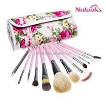 flower pouch packing 12pcs essential makeup brush