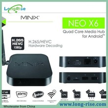 Minix Neo X6 Android 4.4 Quad Core A5 Processor Amlogic S805 1.5GHz 1GB RAM 8GB ROM Android TV bOX