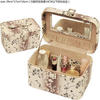 multifunction pu leather vanity cases makeup brush sets case