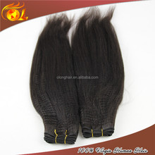 100% human hair silky yaki perm weave,cheap virgin brazilian hair weave,3 pieces weave hair