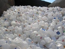 HDPE MIXE PLASTIC BOTTLE SCRAP IN BALES