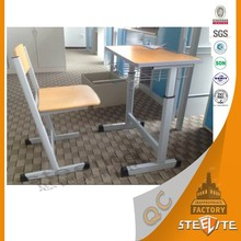 Height adjustable portable used cheap school furniture study table for students