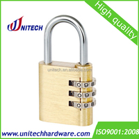 30mm 3 Digit brass combination padlock (KD-T2330)