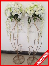 40cm high quality decprativ white artificial flower wedding centerpiece wholesale