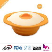 Silicone Steamer, Non-stick, Non-Toxic, BPA FREE, Double color lids, Odorless, FDA, LFGB, DGCCRF