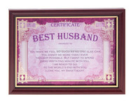 Birthday Gifts for Husband Award Certificate