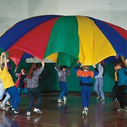 Eastony 12 feet parachute with 8 handles