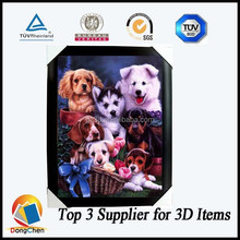 Wall hanging funny dog and cat 3d lenticular pictures