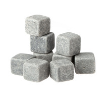 New 9pcs/lot Whisky Ice Stones Drinks Cooler Cubes Beer Rocks Granite Pouch Drink Cooling Ice Melts Bar Coolers