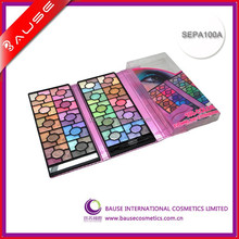 Fashion 100 color Flower Glitter Eyeshadow palette case