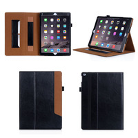 For ipad pro retro style leather case, leather wallet Case for iPad Pro with stand holder