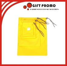 Customized Size Yellow Drawstring Bag
