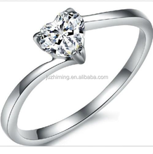 Hot sell 925 sterling silver jewelry ring Heart CZ Christmas Girl Evening 925 sterling silver jewelry ring for woman