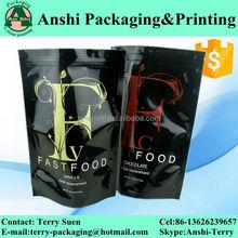 Aluminum foil food bag/food,snack,coffee,tea,sugar packaging bag with print
