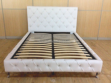 Home Furniture Diamante White PU Normal Bed (AH2)