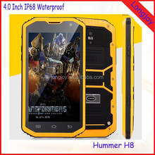 Cheapest 5.0 Inch Rugged Waterproof Cell Phone Hummer H8 MTK6572 Dual Core Dual SIM Android Rugged Phone