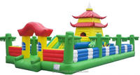 inflatable bouncer with tower building