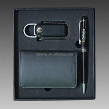 Business gift leather card holder business gift set, custom business gift set