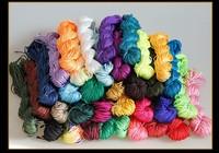 SJS001 shamballa multicolor knotting cord 1mm premium quality braided not shinng jewelry string