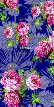 2015 fashion silk chiffon fabric dress patterns digital printing