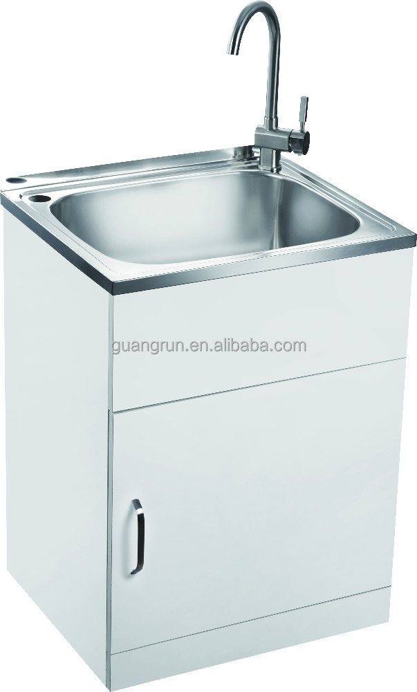 Gr-x003 - Buy Stainless Steel Laundry Sink Cabinet,Stainless Steel ...