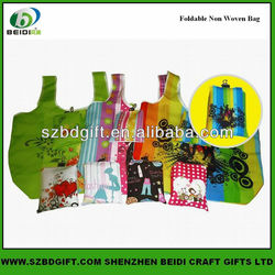 Flexible easy to carry reusable foldable shopping bag