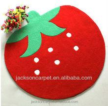 Great big red apple floor decoration carpet