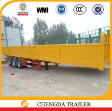 2015 New 80 tons hot sale Chinese 3 axles side wall semi trailer for cargo trucks