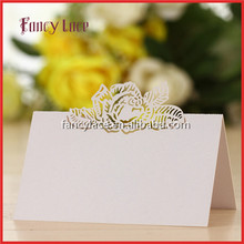 Wholesale Laser Cut Wedding Invitation Decorations Place Cards Table Cards, Rose Flower Shaped Paper Party Decor