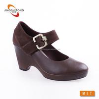 Latest design fashion lady genuine leather shoe women dress shoe
