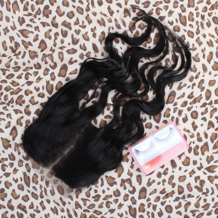 Bulk Buy From China Natural Color Body Wave ( 4*4) Medium Part Top Lace Closure Peruvian Virgin Human Hair 8″-18 inch Supplier