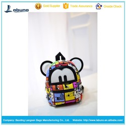 Small ears backpack canvas backpack fashion bags