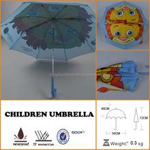 Fashion Strong Windproof Lion rain child Umbrella shape for frames Kids Fun 3-D Feature