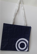 China Factory Recycle Wholesale Laminated Non Woven Bag. long handle shopping tote bag
