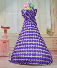 Cabo de laço cristais de pedra bordado africanos para vestidos de casamento