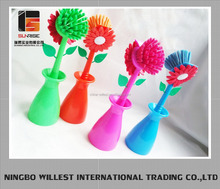 flower plastic dish brush, dish brushes