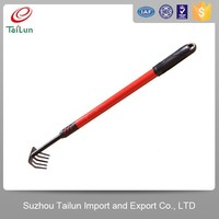 folding handle grass root rake