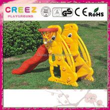 Modern cheapest closed slide plastic playground