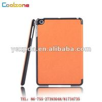 Leather case for 7 inch tablet PC iPad mini with smart cover