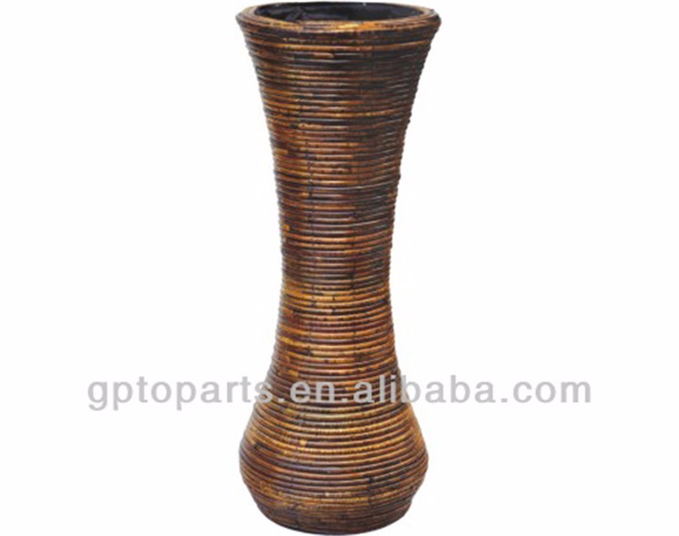 Large Round Willow Wicker Corner Vases Baskets Home Decoration